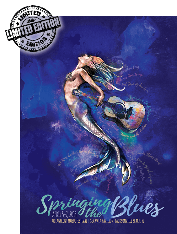 Get your 2019 Springing the Blues Poster poster. Signed by the artist David B. Lee himself!